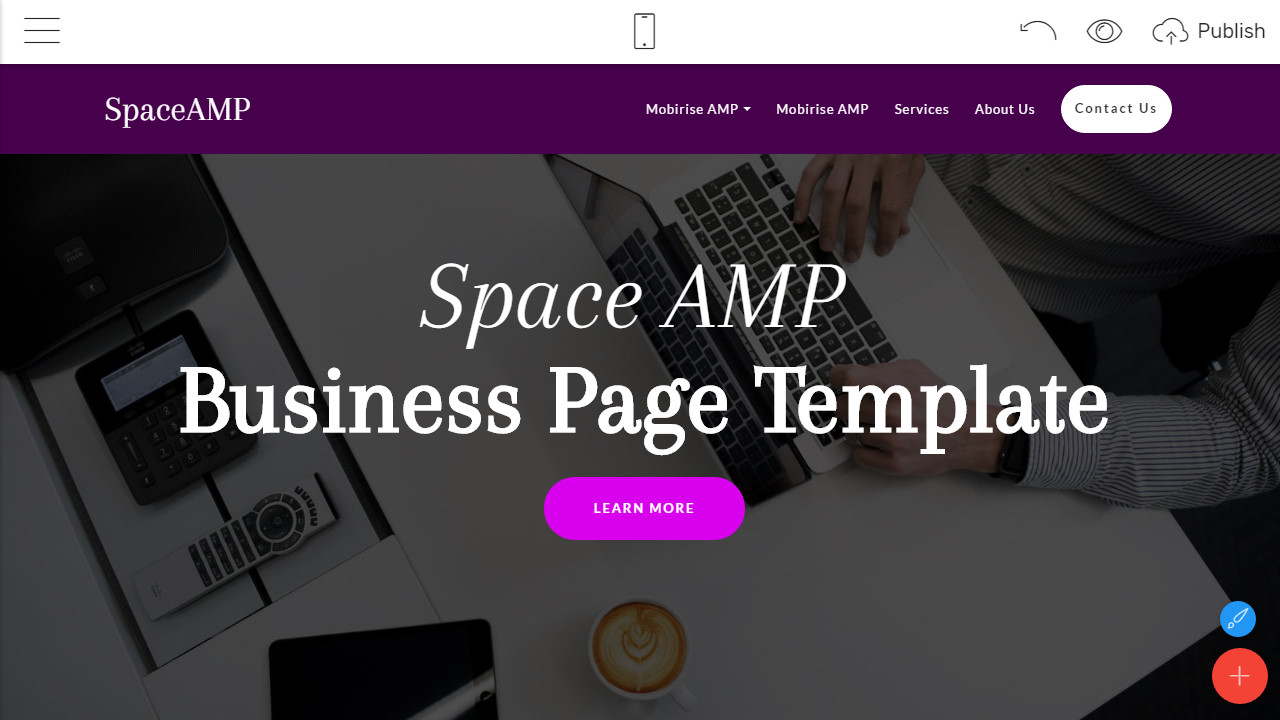Amp Html Website Design Review